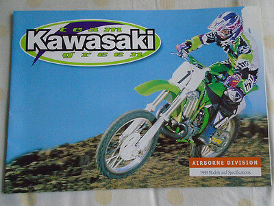 Kawasaki Team Green Airborne Division Motorcycle brochure 1998 ref 99985-101 CUR