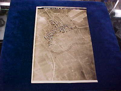 Orig WW1 R/P British Western Front Aerial View April 13th 1917 Acherville