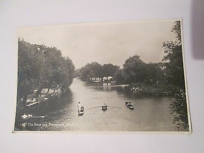 Postcard of The River and Promenade, Bedford 1143 posted 1948