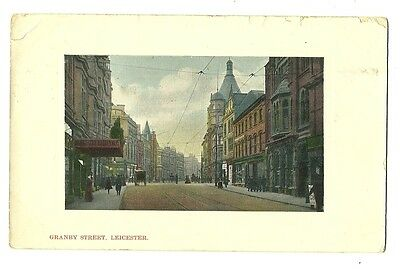 Leicester - a colour-added photographic postcard of Granby Street
