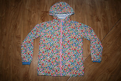 Beautiful Floral Raincoat By Boden Age 11-12 Immaculate Condition