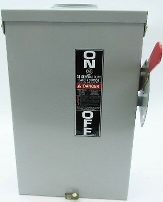 New GE TG3222R 60 Amp 240V General Duty Fusible Safety Switch Disconnect No Box