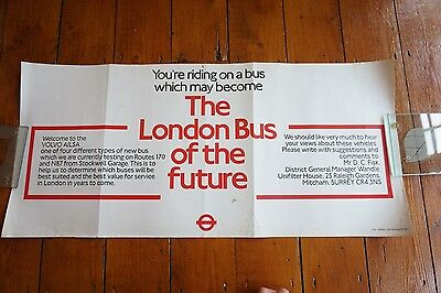 1984 London Bus of the Future Bus Interior Poster London Transport Routemaster