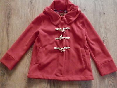 Next Red Fleece Duffle Style Hooded  Coat  Age 12 Years  152cm VGC