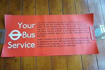 1974 Your Bus Service Interior Poster London Transport Routemaster