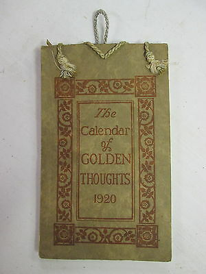 """1920 """"The Calendar of Golden Thoughts"""", Barse Hopkins Publishers, Complete"""
