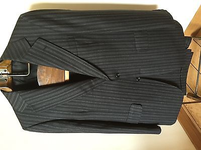Vintage Aquascutum Suit pin stripe Perfect for Goodwood Revival 44reg 1960's