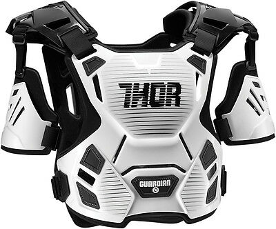 Thor Guardian Chest Protector White/Black Med/Large 2701-0787