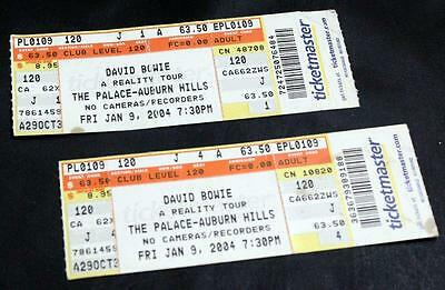 David Bowie A Reality Tour Tickets The Palace Jan 9, 2004