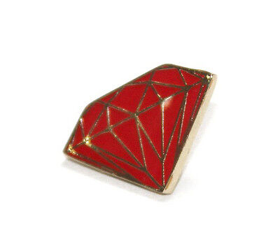 Diamond Supply Co Gold Red Metal Brilliant Lapel Pin NEW