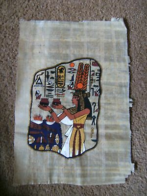 Egyptian hand painted papyrus picture