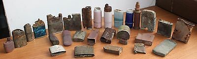 Collection lighters from German Bunker WW2 WW1 STALINGRAD RELIC