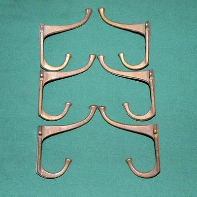 6 Matching Mid Century Modern Cast Iron Coat Room Wall Hooks Free Shipping