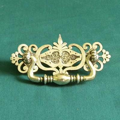 Vintage Antique Ornate Cast Brass Drawer Drop Bale Pull Free Shipping