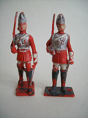 "CHERILEA  PLASTIC SOLDIERS ""  TWO LIFE GUARDS ""   70 MM  c1960'S"