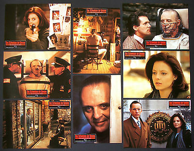 SILENCE OF THE LAMBS Jodie Foster ANTHONY HOPKINS Set of 8 German LOBBY CARDS
