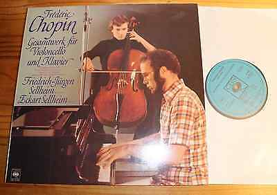 SELLHEIM Chopin Complete Works for Cello & Piano LP CBS