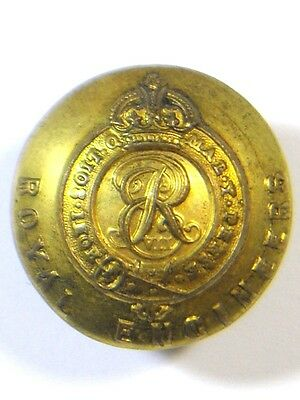 Royal Engineers original (Edward VII) Officers Large Button.