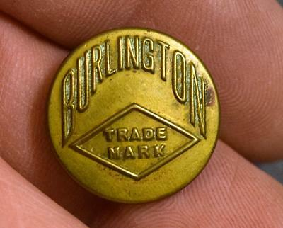 Vintage Antique Burlington Trade Mark Brass Uniform Button