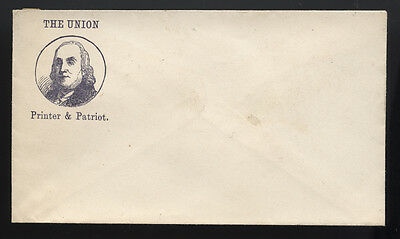 CIVIL WAR cachet ~ THE UNION  ~ PRINTER & PATRIOT BENJAMIN FRANKLIN