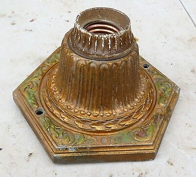 1920's ANTIQUE VINTAGE CAST ALLOY ART DECO Ceiling Light Fixture