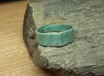 Ancient medieval bronze ring   #2056