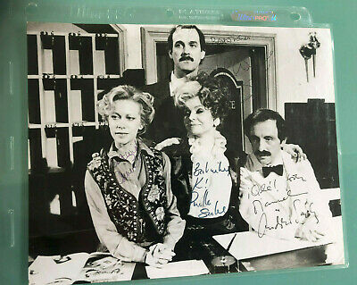 Fawlty Towers cast signed photo JOHN CLEESE Andrew Sachs autographed x 4 UACC RD