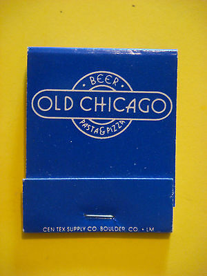Matches Matchbook  ^  OLD CHICAGO Pasta, Pizza & Beer Bar ~*~ COLORADO Locations