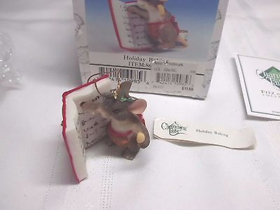 Holiday Baking Ornament ~ Charming Tails ~ 86/102 (Fitz & Floyd Collectible)