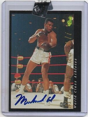 Classic World Class Athletes Autograph On Card Signed Muhammad Ali The Greatest