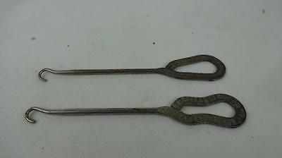 Antique Advertising Button Hooks (2) - Walk-Over  & J.C. Penney