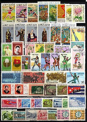 112-VIETNAM-NICE LOT of USED STAMPS.LOTE de SELLOS USADOS de VIETNAM.Tematics.
