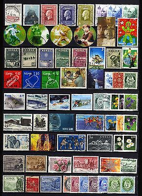 6060-NORWAY-NORGE-NICE LOT of USED STAMPS.LOTE de SELLOS USADOS de NORUEGA.