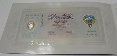 2001 Kuwait, Dinar, Polymer Note, Liberation, Original Folder & Envelope