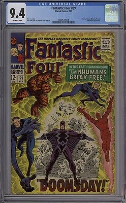 Fantastic Four #59 - CGC Graded 9.4