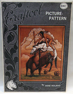 Vintage Craftool Leather Work Craft Carving Picture Pattern Native American