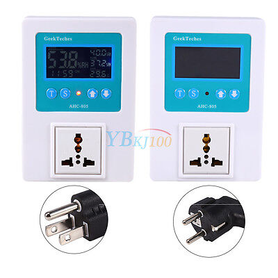 LCD Display Thermostat Temperature&Humidity Timing Controller DC110-240V AHC-805