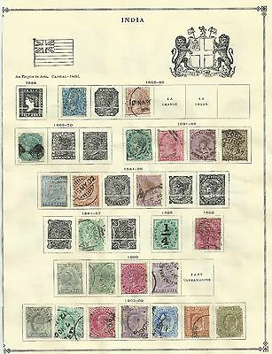 India Stamps: Old India and States Collection on 12 Pages