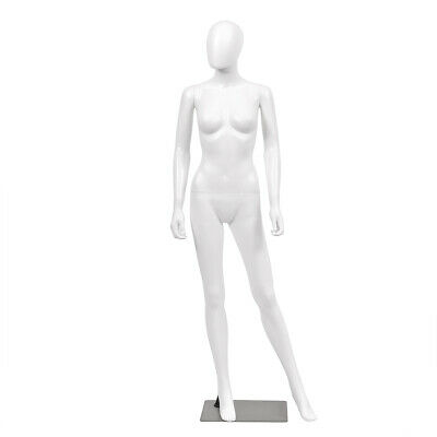 5.8 FT Female Mannequin Egghead Plastic Full Body Dress Form Display w/Base New