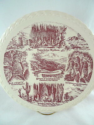 Carlsbad Caverns New Mexico NM Collector Souvenir Plate Brown/Red