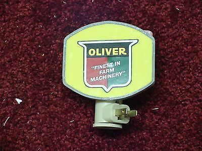 Oliver Tractor Logo , Stained Glass Night Light