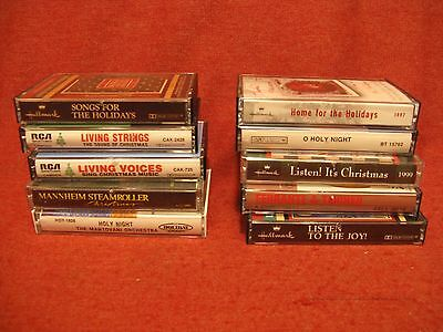 lot of 10 cassette CHRISTMAS TAPES  mannheim and more