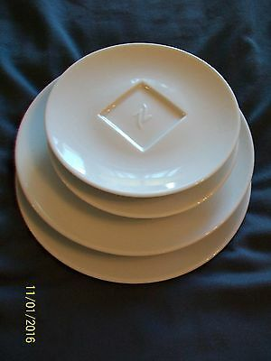 Nespresso COLLECTION 4 white coffee plates made in Portugal new