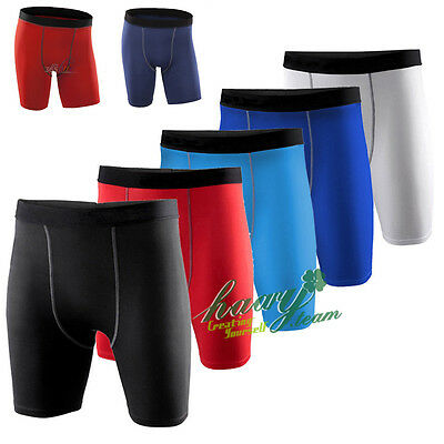 Mens Base Layer Compression Sport Running Gym Pants Shorts Short Trousers Tights