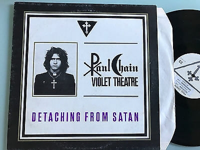 LP ITALY 1984  INSERTO Paul Chain Violet Theatre Detaching From Satan ((Death SS