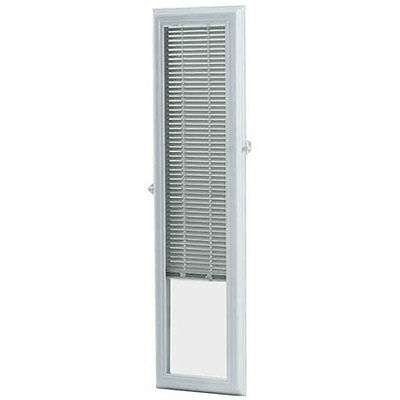 ODL Enclosed Door 8x36-inch White Sidelights with Blinds