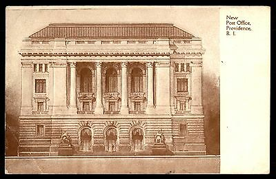 New Post Office Providence Ri Colored Embossed Postcard