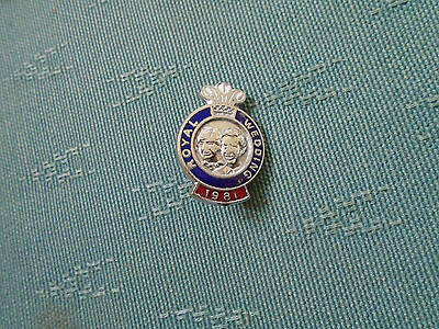 1981 Prince Charles Princess Diana Royal Wedding - Enamel Pin Badge