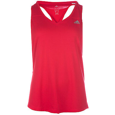 Womens adidas Womens Sequentials Climalite Tank Top in Red - 12-14