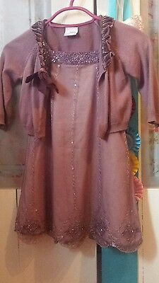 Stunning girls party occassion Next outfit  dress n cardigan set 3-4 years